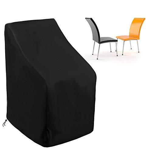 HXDY Funda para Muebles De Jardín Al Aire Libre, Funda para Silla Impermeable Y Anti-UV Y a Prueba De Polvo, Funda Protectora para Muebles De Jardín Y Terraza Negro