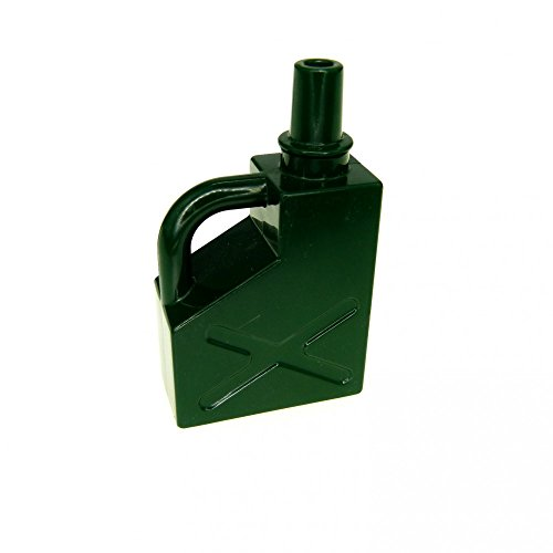 1 x Lego Duplo Kanister dunkel grün 1x2x2 Benzin Oel Kanne Tankstelle Auto 45141