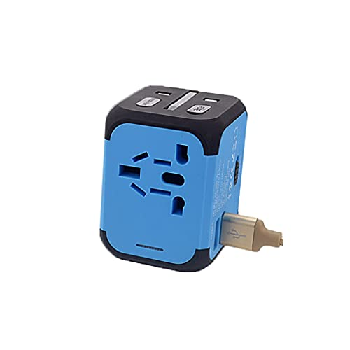DUOER home Adaptador de Enchufe de Viaje Internacional - Conector de conversión Multifuncional multifunción multifunción de Plug de USB para el Reino Unido Japón China Europa Europa Europa