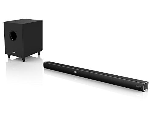 SHARP HT-SBW260, 3.1 Dolby Digital TV-Heimkino-System, Soundbar mit kabellosem Subwoofer, Bluetooth, HDMI ARC/CEC und 600W Gesamtleistung, Schwarz