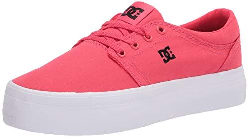 DC womens Trase Platform Skate Shoe, Crazy Pink/Black, 8 US