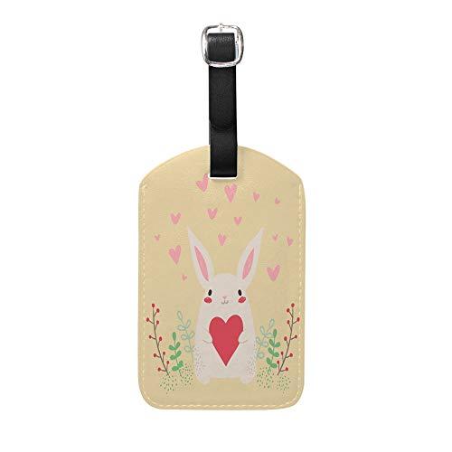 Chefong Etiquetas para Equipaje de Piel de Conejo, para Mujeres, Hombres, Viajes, Maleta, Etiquetas, Bolsa de Equipaje, Tarjeta identificativa, 1 Unidad