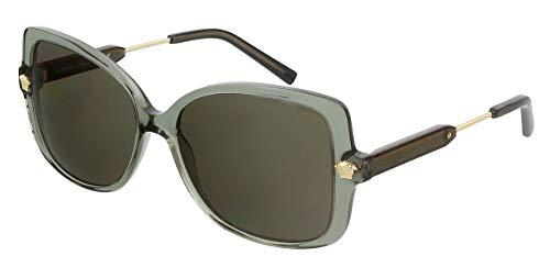 Versace VE4390 5338/3 Gafas de sol rectangulares de gran tamaño Medusa para mujer
