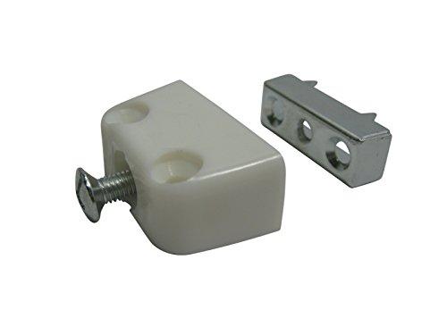 50 x Verbindungsbeschlag SAMWERK® Trapez Verbinder Trapezverbinder Schrankverbinder weiß