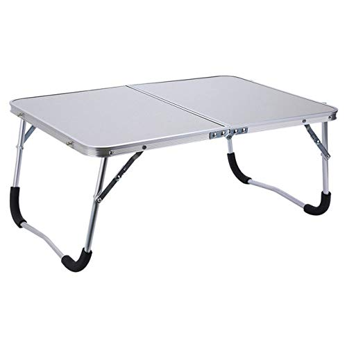 LJQLXJ Tables Pliantes Support de Table pour Ordinateur Portable Portable réglable Plateau de lit de Bureau de Lecture d'ordinateur Pliant, Blanc, Blanc