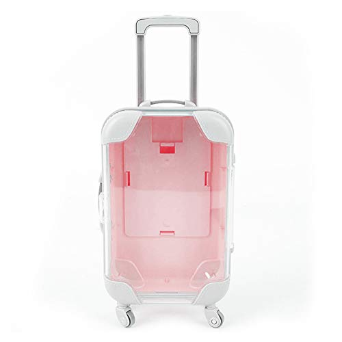 False Eyelashes Packaging Box,Mini Trolley Luggage Lashes Suitcase Jewelry Storage Box Mini Organizer (Pink)