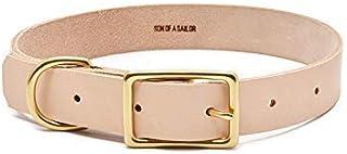 Willis Durable Adjustable Natural Leather Pet Collar/Natural
