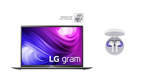 LG Gram 17 Zoll Business Notebook - 1,35 kg Leichter Intel Core i5 Laptop (8GB DDR4 RAM, 512 GB SSD, IPS Display, Thunderbolt 3, Windows 10 Home) - Dunkelgrau + Bluetooth Kopfhörer Tone Free HBS-FN6