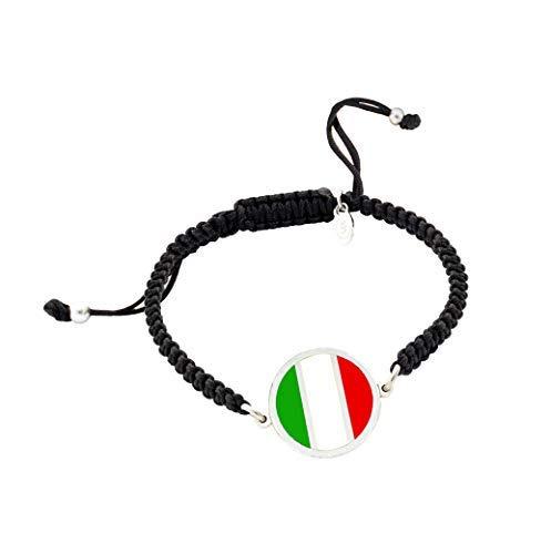 Pulsera Bandera de Italia | Pulsera mujer y pulsera hombre | Regalo original | Bandera de Italia | Yo me quedé en casa