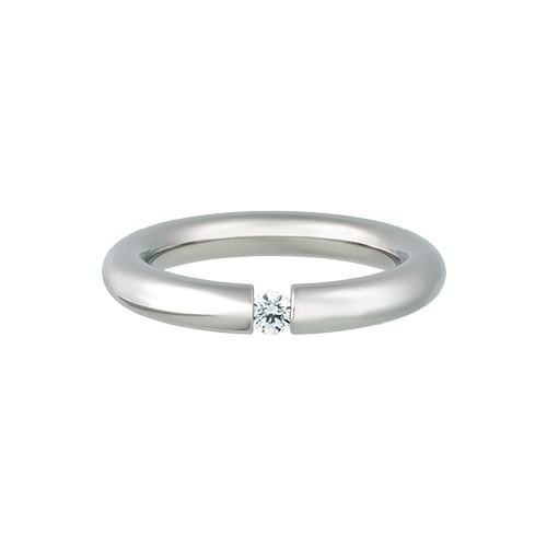 Kadó Ring Changes Edelstahl bombiert glänzend mit Zirkonia in Farbe kristall 3,5mm 250-3,5-02P (56 (17.8))