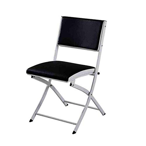 LLSS chair Black Folding Chair Padded Seat Office Reception Foldable Desk Chairs Easy Storage Backrest,45 X 46 X 80 Cm Environmental rating