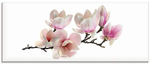 Artland Glasbilder Wandbild Glas Bild einteilig 125x50 cm Querformat Natur Asien Botanik Blumen...