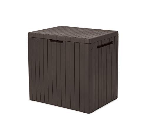 Keter City Outdoor Aufbewahrungsbox aus Kunststoff, Gartenmöbel, Braun, 57,8 x 44 x 54,8 cm
