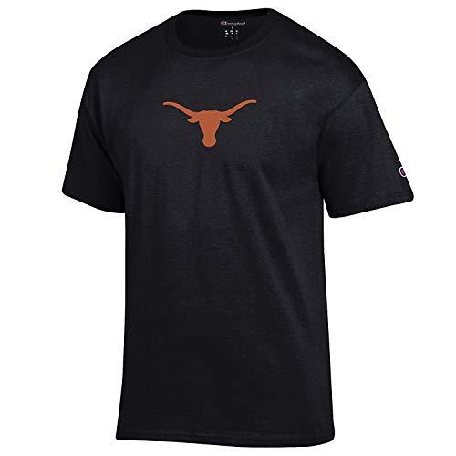 Champion NCAA Texas Longhorns Men's Bevo Logo Short Sleeve T Shirt (Large, Black)