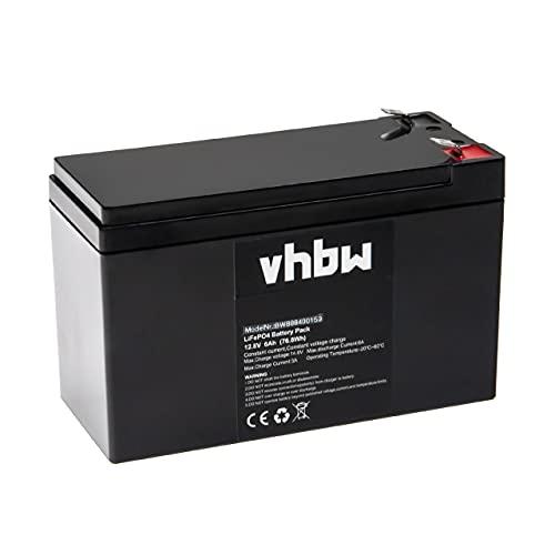 vhbw Batería de a Bordo para Caravana, Barco, Camping, Autocaravana (6 Ah, 12,8 V, LiFePO4, Rectangular)