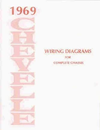 1969 chevrolet chevelle, el camino & malibu complete factory set of electrical  wiring diagrams &