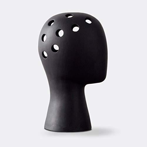 Vase Keramikvase Kreative Mode Weiße Vase Hochzeit Home Decor Moderne Porzellanvase Figur Kopfform Vase Schwarz