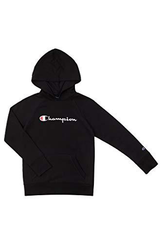 Champion Kinder-Sweatshirt, Fleece, zum Überziehen mit Kapuze - Schwarz - Medium