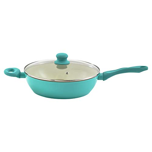 IMUSA USA Teal 4Qt Forged Jumbo Cooker with Ceramic Nonstick, 4 Quart