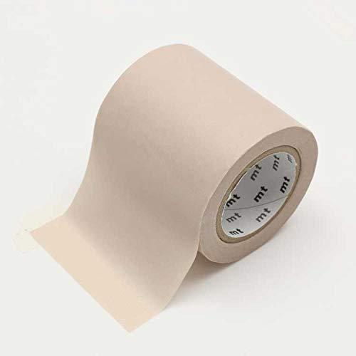 mt CASA (カーサ) 幅広 マスキングテープ カモ井加工紙 無地 太い 幅 5cm × 10m巻き MTCA5098 パステル ブラウン 茶色