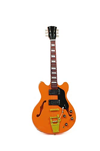 Guitarra en miniatura decorativa Gibson 24 cm, naranja #177