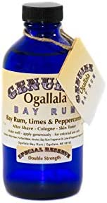 8 Oz Genuine Ogallala Bay Rum Double Strength Aftershave (Bay Rum)