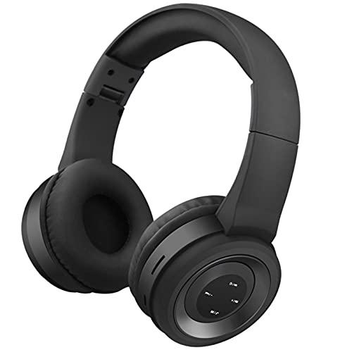 Oqqo Auriculares inalámbricos de Alta fidelidad con Bluetooth 5,0, cancelación de Ruido estéreo, Auriculares BT con micrófono para teléfono, PC, Ordenador portátil Black