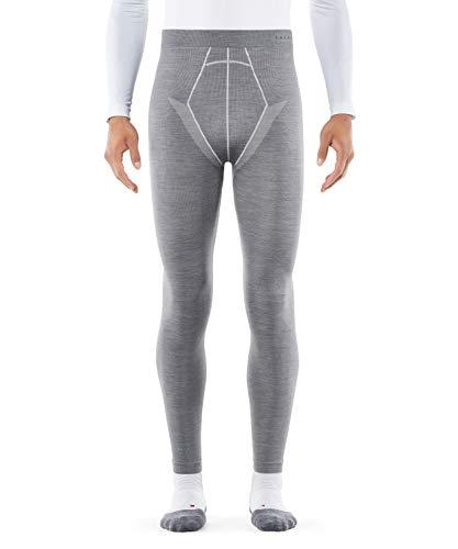 Falke Wool Tech - Pantalón de Capa Larga para Hombre, Color Gris (Grey-Heather 3757), Talla L
