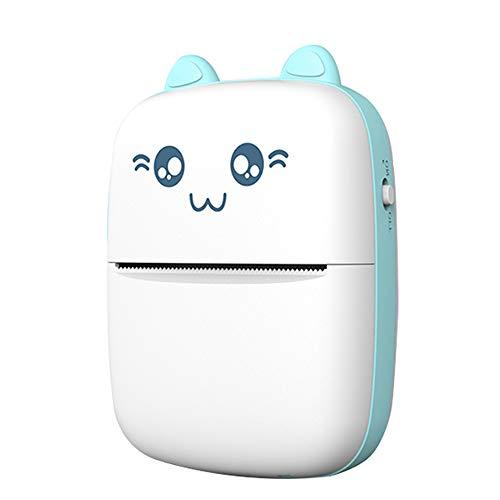 KKmoon Mini impressora térmica portátil sem fio BT 200dpi Etiqueta fotográfica Memorando Pergunta errada Imprimindo com cabo USB
