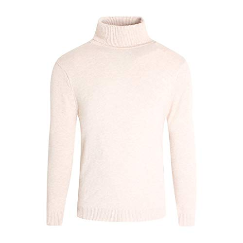 Mens Jumper Turtleneck Sweater Basic Pullovers Slim Fit Knitwear Casual Tops Slim Soft Breathable Warm Knit Sweater Solid Color All-Match Basic Outdoor Casual Tops Pullover Sweatshirt M