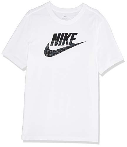 Nike Herren T-Shirt M NSW CAMO SS Tee, White/(Black), L, CK2330