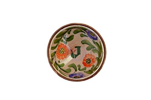 Jordan Olivenöl Cuenco hecho a mano con flores.