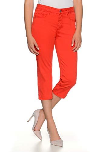 Stooker Tahiti Stretch Capri Twill Jeans Hose Slim Fit Damen Bermuda 7/8 Hose - Spicy Red (W42 L53, 3620 - Spicy Red)