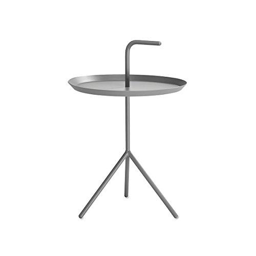 DLM bijzettafel, grijs Ø 38 cm hoogte plank: 44 cm