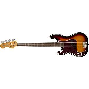 Fender, Squier, basso di precisione classico stile anni ?60, Laurel Bassi di precisione (LH) Full 3 colori di Sunburst