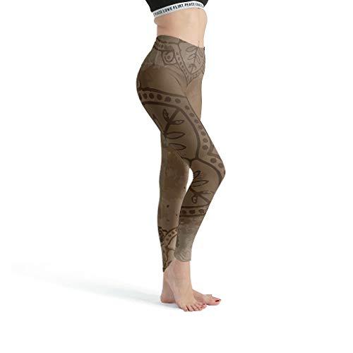 Toomjie Yoga Broek Vrouwen Hoge Taille Tummy Controle Yoga Leggings Mandala Patroon Anti Cellulite Compressie Broeken