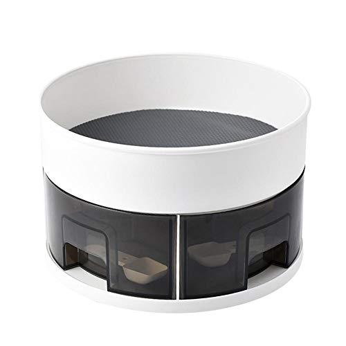 Lazy Susan - Soporte giratorio para especias (2 niveles, 360 grados)
