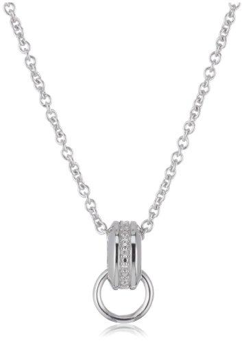 Esprit Damen-Charmshalskette Glam 925 Sterlingsilber 80-83cm 4425898