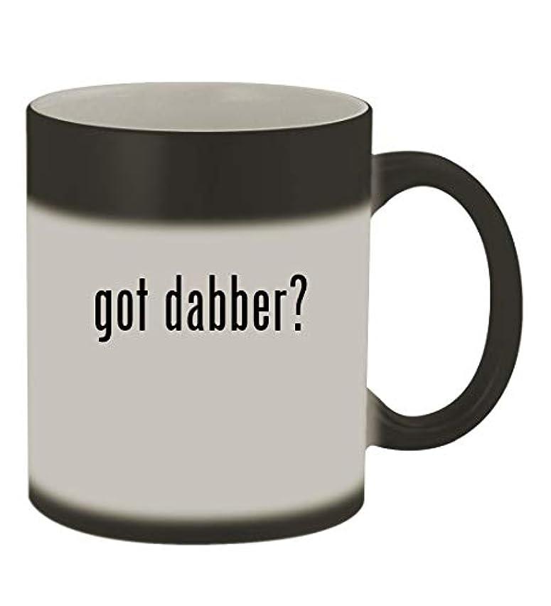 got dabber? - 11oz Color Changing Sturdy Ceramic Coffee Cup Mug, Matte Black