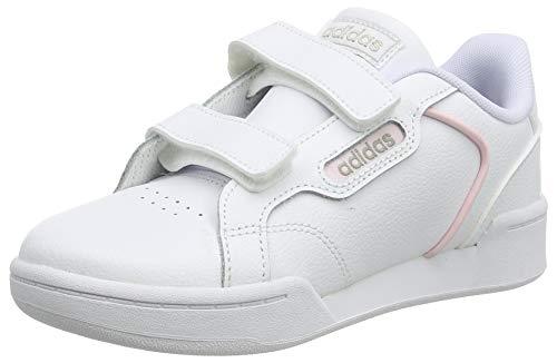 adidas ROGUERA C, Scarpe da Ginnastica, Ftwr White/Ftwr White/Platin Met, 35 EU