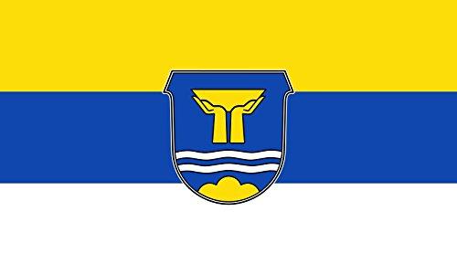 Diplomat magFlags Raum-Fahne mit modernem verchromtem Fahnenständer & Marmor-Fuß | Flagge: Bad Wiessee 90x150cm | Höhe: 230cm