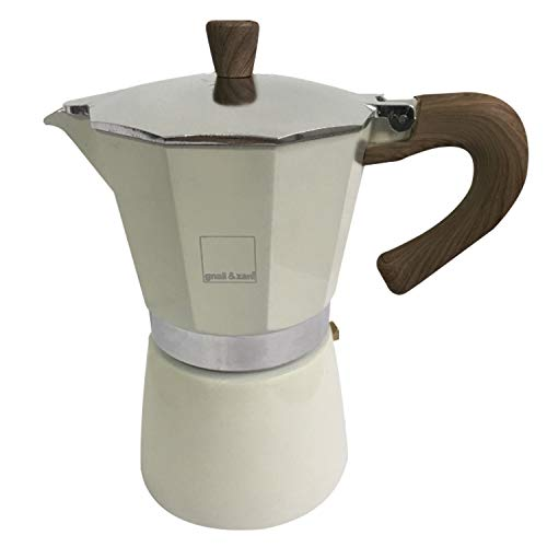 gnali&zani gnali&zani_EZ 003/IND/CREA Venezia Coffee Maker 3 Cups Induct Cream