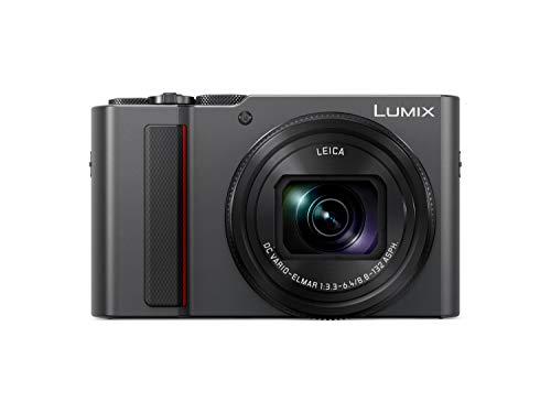 """Panasonic Lumix DC-TZ200EG-K - Cámara Compacta Premium de 21.1 MP (Sensor de 1"""", Objetivo F2.8-F5.9 de 24-360mm, Zoom de 15X, 4K, WiFi, Bluetooth, Raw), Color Plata"""