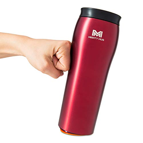 Mighty Mug - Stainless Steel Non-Tip Travel Mug - Double-Wall Insulated - Keeps Coffee, Tea and...