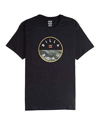 BILLABONG Rotated SS tee Camiseta, Negro (Black 19), One Size (Tamaño del Fabricante: XS) para Hombre