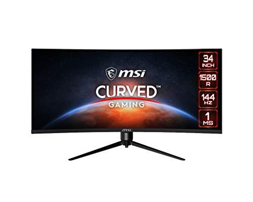 MSI Optix MAG342CQR Monitor Gaming Curvo 34 , Display 21:9 (UWQHD) 3440x1440, Frequenza 144Hz, 1ms, Pannello VA, FreeSync Premium, HDR Ready, RGB Mystic Light