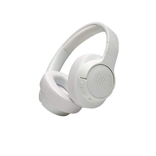 JBL T750BTNC Auriculares Over Ear inalámbricos con Bluetooth y cancelación de ruido activa, auriculares de diadema ligeros con batería de hasta 15 horas y cable extraíble, color blanco