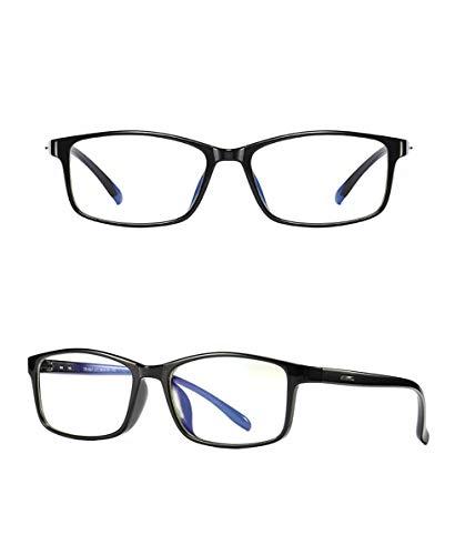 Cyni Spielbrille,TR90 Anti-Blau-Brille, Unisex-Computerspiegel Wettkampfspiel Schutzbrille,Brightblack,1