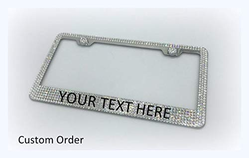 Custom Bling License Plate Frame made with Swarovski Crystals - Car Jewelry -  RVMdesigns