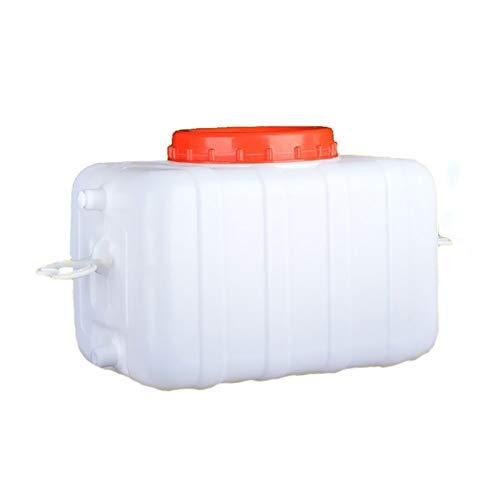 Depósito de agua de grado alimenticio, apto para el hogar, cubo de agua pura, multiusos para riego, contenedor de agua con grifo antienvejecimiento JNCSX (tamaño: 25 L)